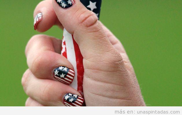 Nail art de una atleta estadounidense en los Juegos Olímpicos 2012