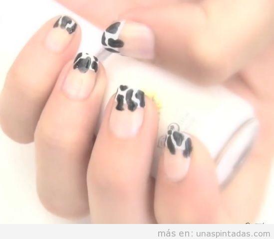 Diseños para un print de vaca en tus uñas