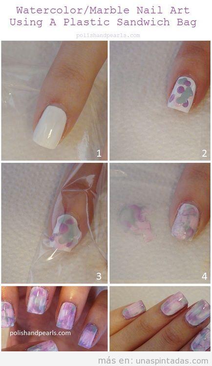 ▷ Uñas decoradas de tipo mármol: Un efecto fácil y SORPRENDENTE
