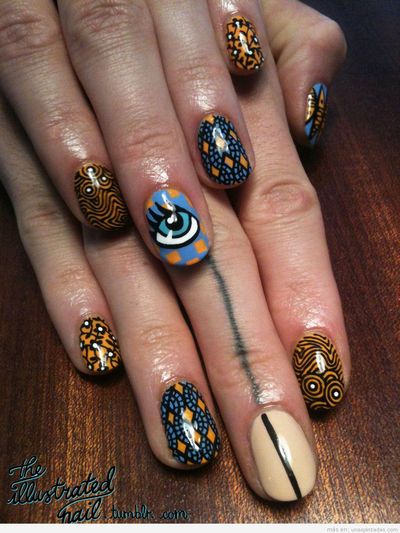 Diseño de uñas con dibujos increíbles inspirado en la India