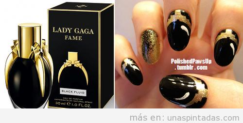 Uñas pintadas o Nail Art inspirado en el perfume de Lady Gaga