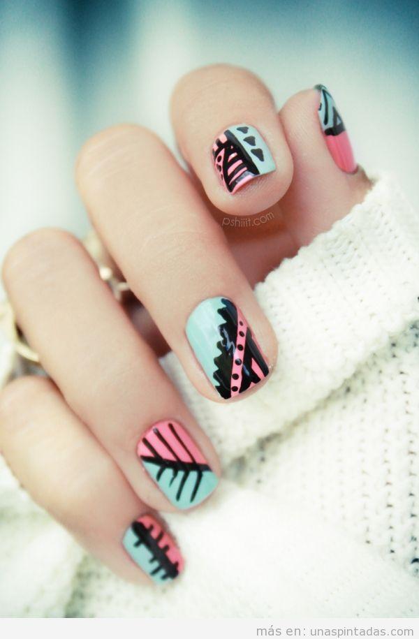 Nail Art dibujos geométricos