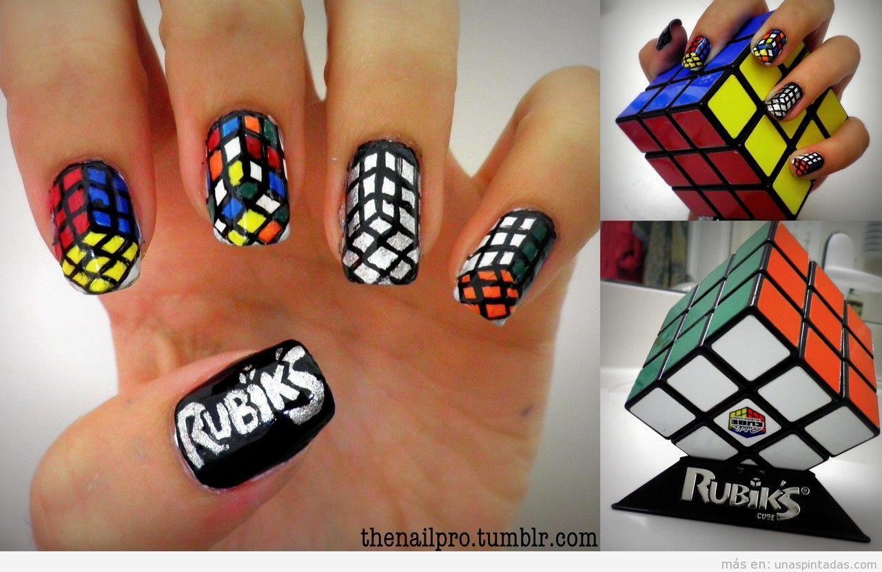 Diseño de uñas basado en el cubo de Rubik