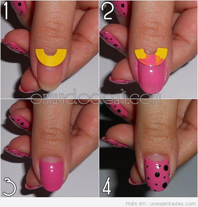 Fotos para hacer paso a paso diseño de uñas estilo pin-up