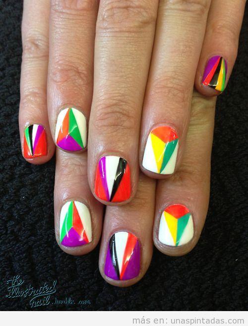 Diseño de uñas kaleidoscopio