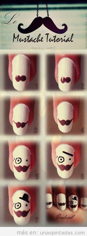 Tutorial con fotos paso a paso para diseño de uñas con el meme like a sir