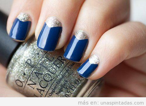 Decoración de uñas elegante y fácil para nochevieja