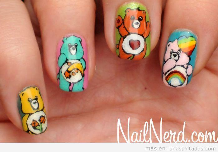 Diseño de uñas de los osos amorosos