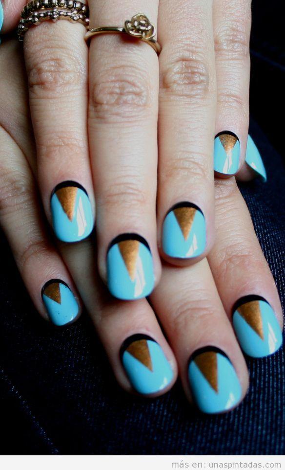 Nail Art inspirado en el Art déco