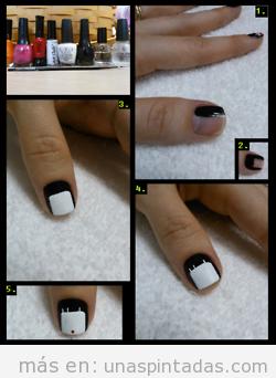 Tutorial paso a paso de un diseño de uñas con dibujo de muñeca japonesa 1
