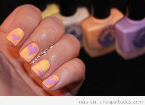 Decoración de uñas sencilla para San Valentín