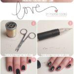 Tutorial para decorar las uñas con hilos dorados