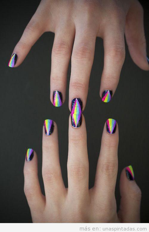 Dibujo de uñas, Triángulo de colores, Prisma