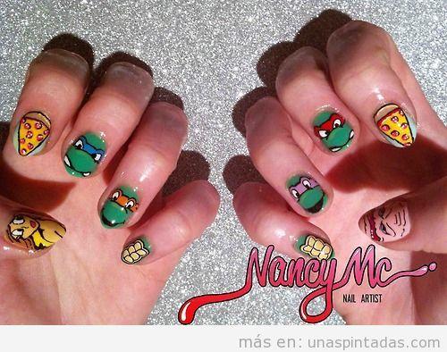 Diseño de uñas Tortugas Ninja