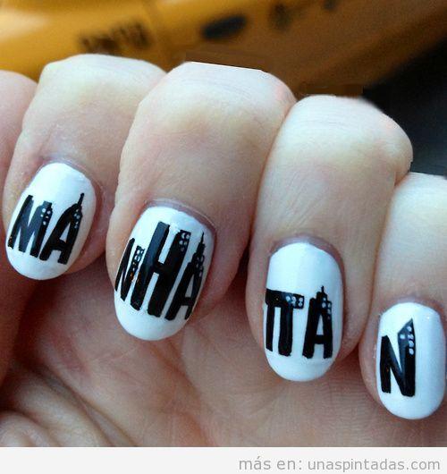Nail Art, logo de Manhattan, de Woody Allen