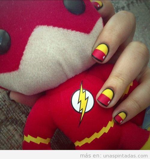 Diseño uñas flash