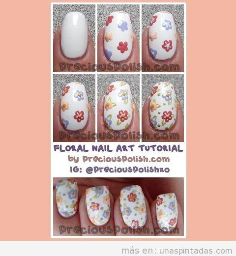 Tutorial para aprender a dibujar flores en las uñas
