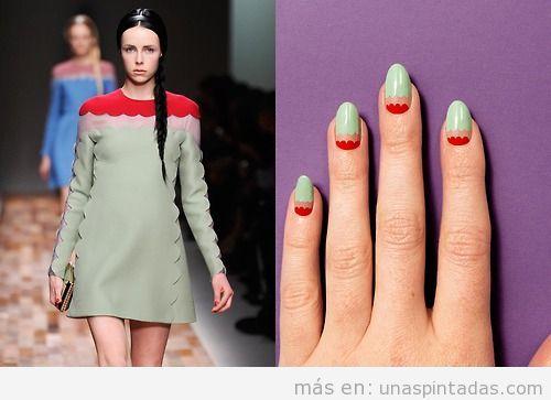 Diseño de uñas inspirado en la colección de Valentino Otoño 2013