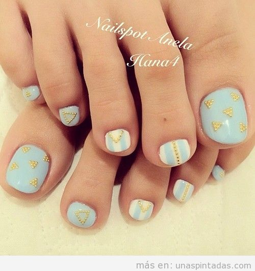 Diseño de uñas bonito para pies