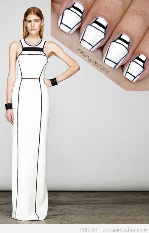 Nail Art inspirado en vestido de Yigal Azrouël Resort '14