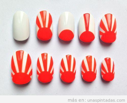 Diseño de uñas puesta de sol colore sneón