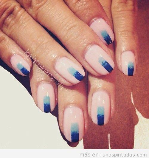 Decoración de uñas con degradado, sencillo y elegante