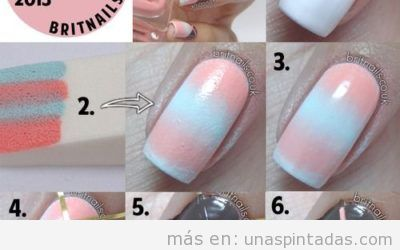 + 20 Decoraciones de uñas degradadas con estampados y dibujos sencillos