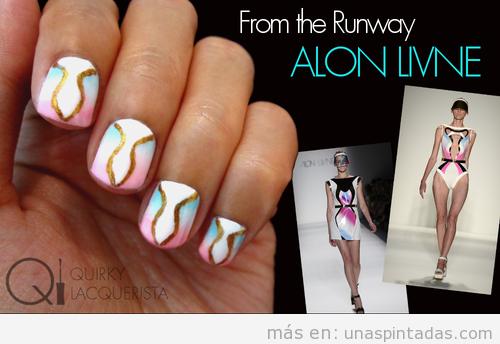 Decoración de uñas inspirado colección Alon Livine Primavera 14