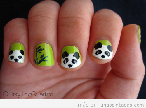 Uñas Decoradas Con Animales Osos Panda Hipopótamos