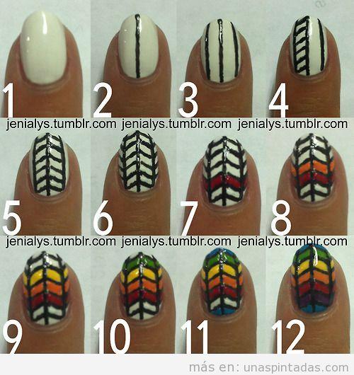 Tutorial paso a paso para decorar uñas con estampado geométrico