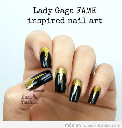 Decoración de uñas inspirado Fame Lady Gaga