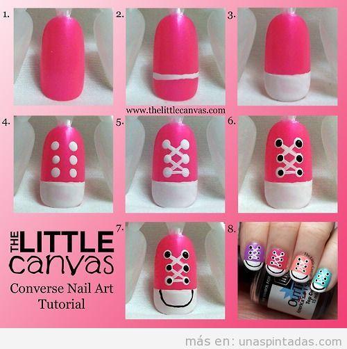 Paso a Paso | uñas pintadas | Nail Art, Decoración de uñas paso a ...