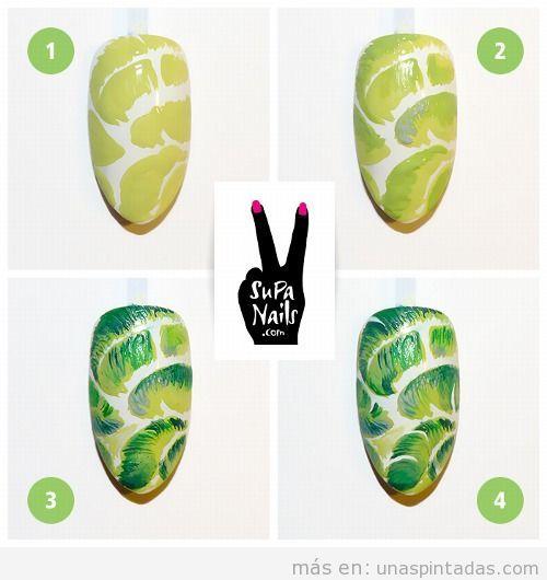 Tutorial para aprender a hacer un Nail Art de verano fácil