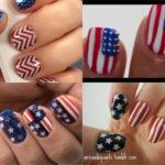 Cómo dibujar la bandera de Estados Unidos en un Nail Art ¡Feliz 4 de julio!