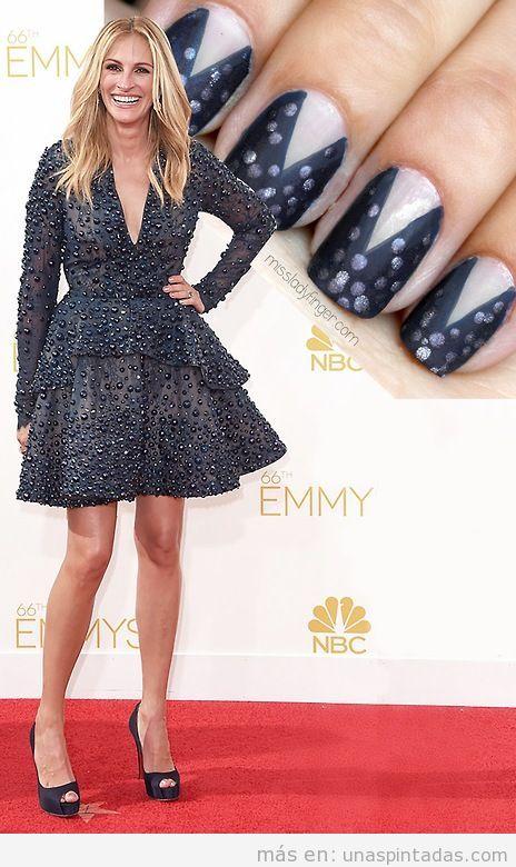 Diseño de uñas vestido Julia Roberts Emmy's 14