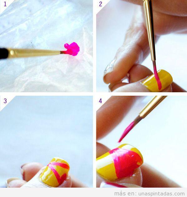 Tutorial para hacer un diseño de uñas estilo color block