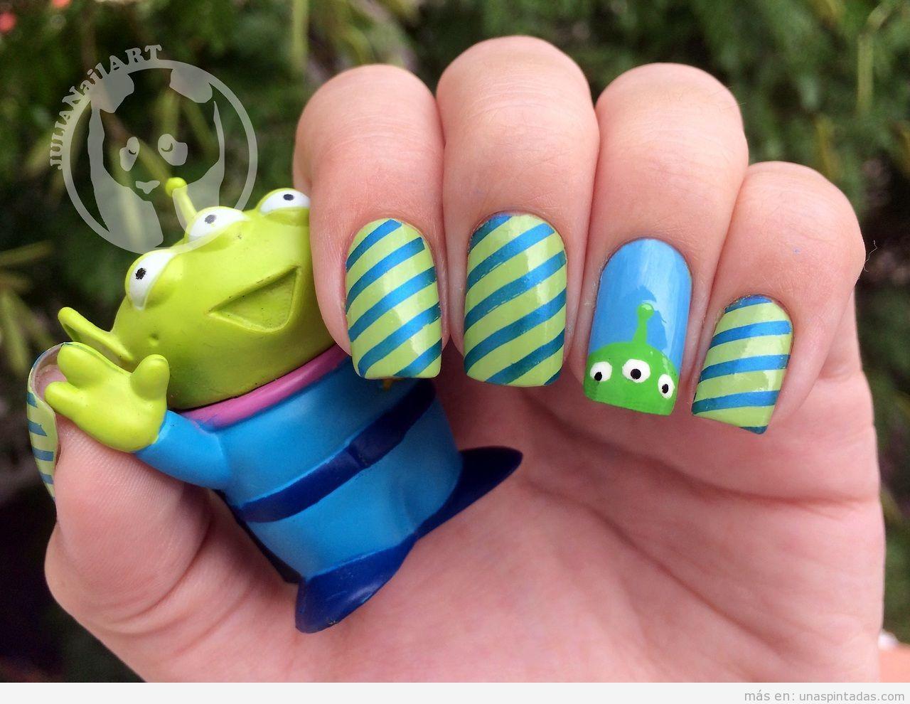 Nail Art  del alien deToy Story