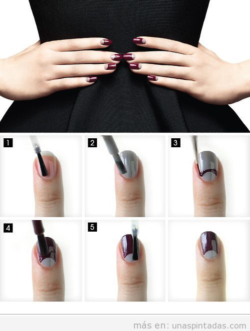 Tutorial Nail Art media luna