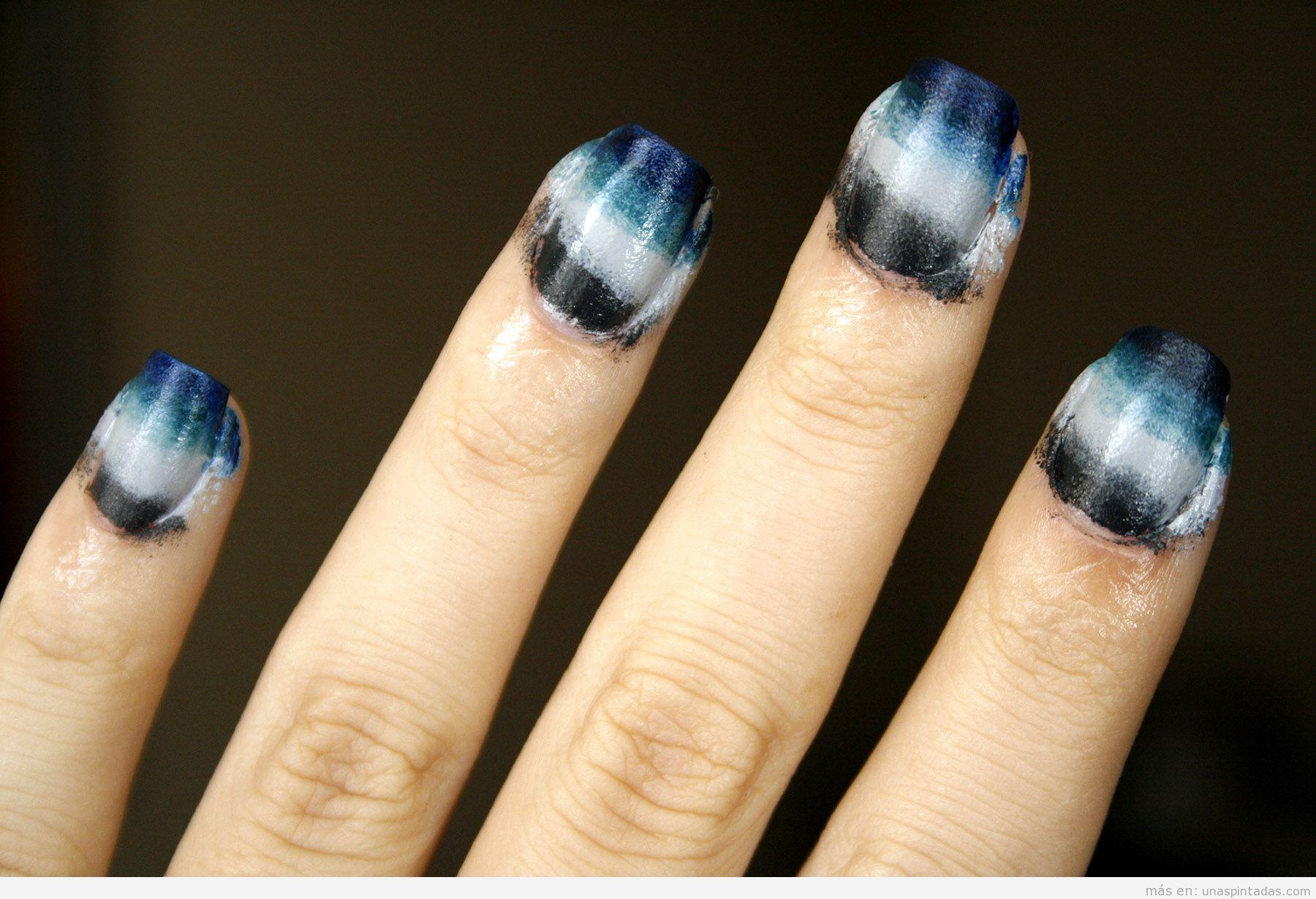 Tutorial diseño uñas degradado inspirado vestido Burberry Prorsum Spring '15