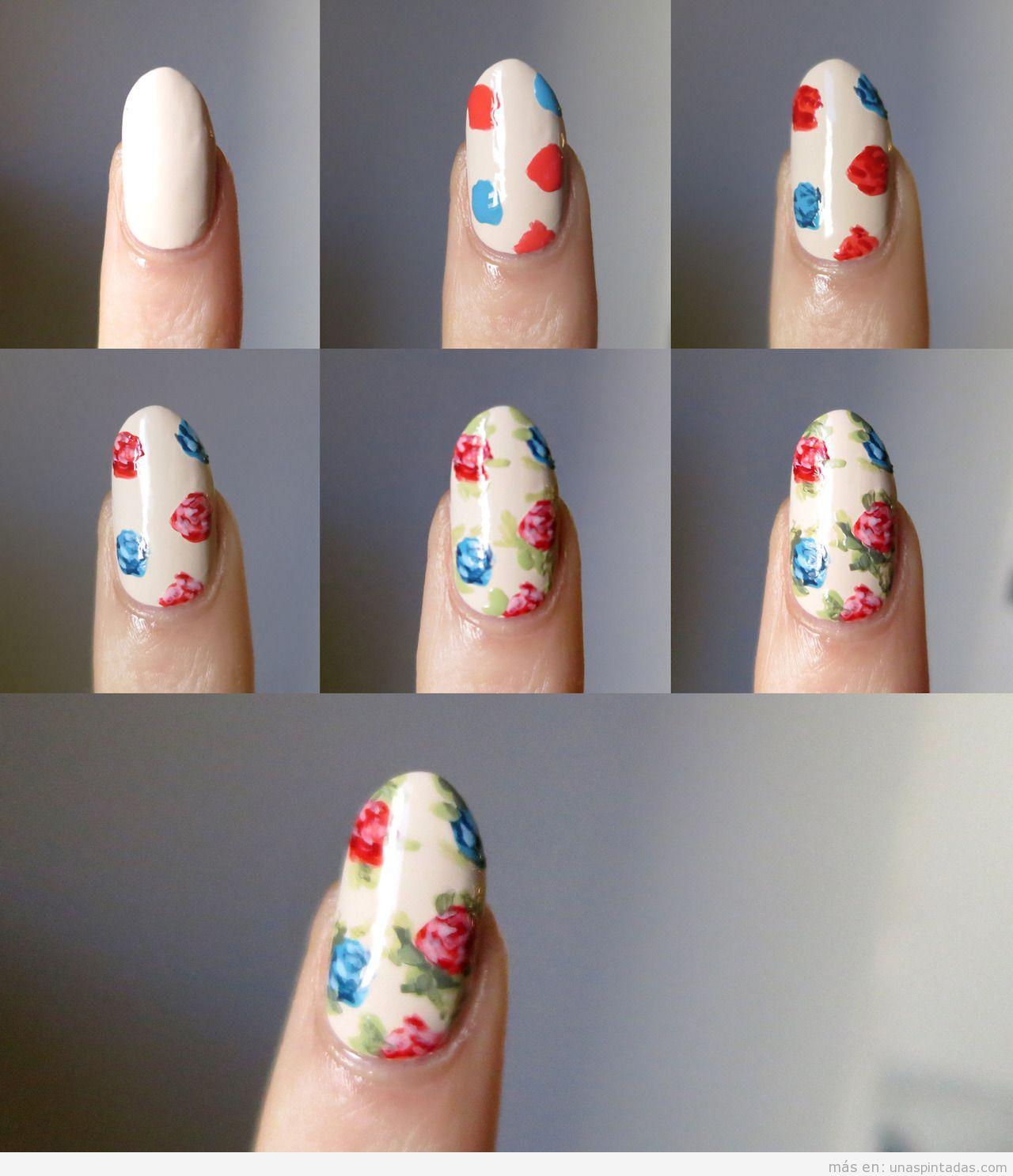 Рисунки на ногтях в домашних условиях 79
