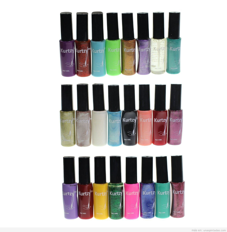 Set esmalte de uñas colores marca Kurtzy, comprar online