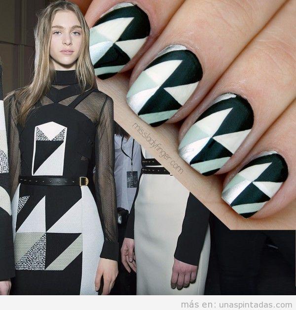 Tutorial diseño uñas inspirado en vestido Roland Mourent