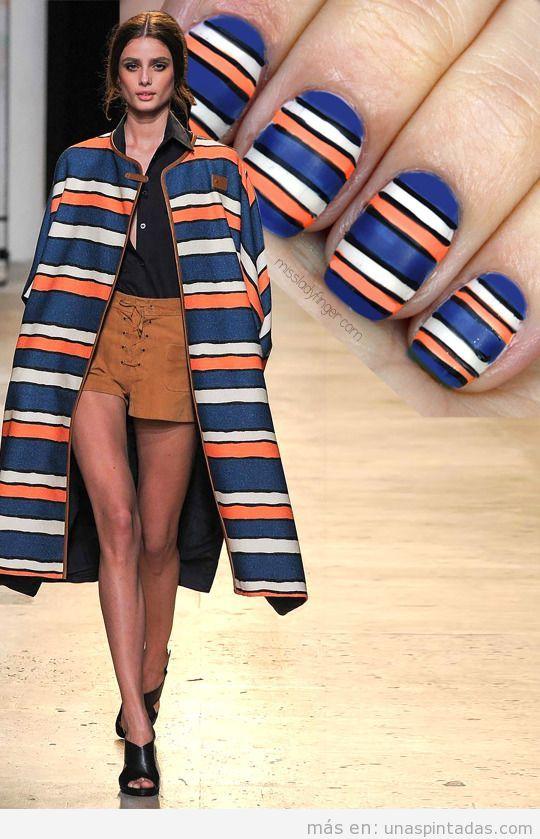 Decoración uñas inspirado abrigo de Paul & Joe