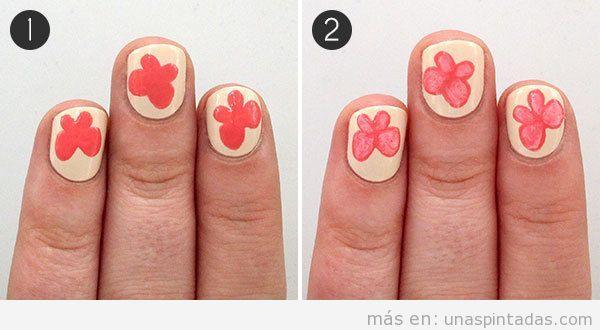 Tutorial Nail Art dibujar mariposa