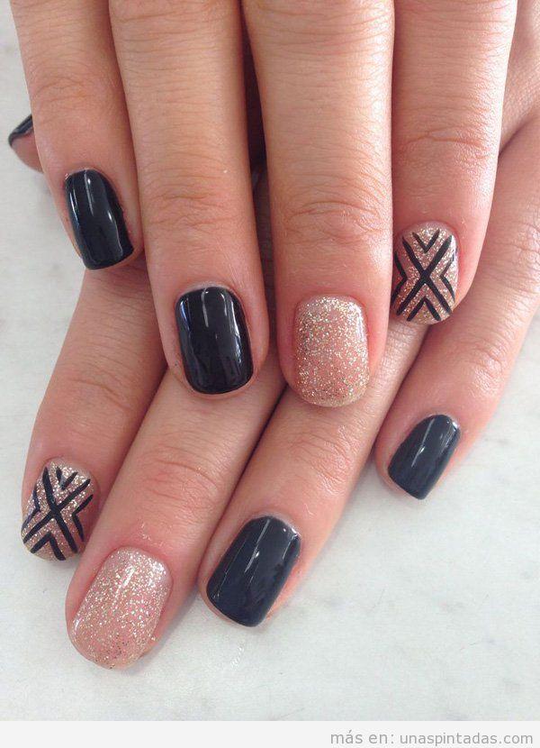 Imágenes uñas pintadas elegantes y bonitas 2015