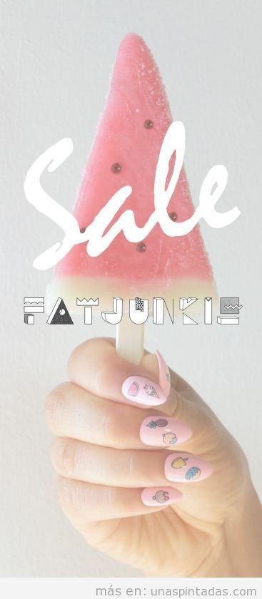 Decoración uñas con dibujos de frutas y helados 3