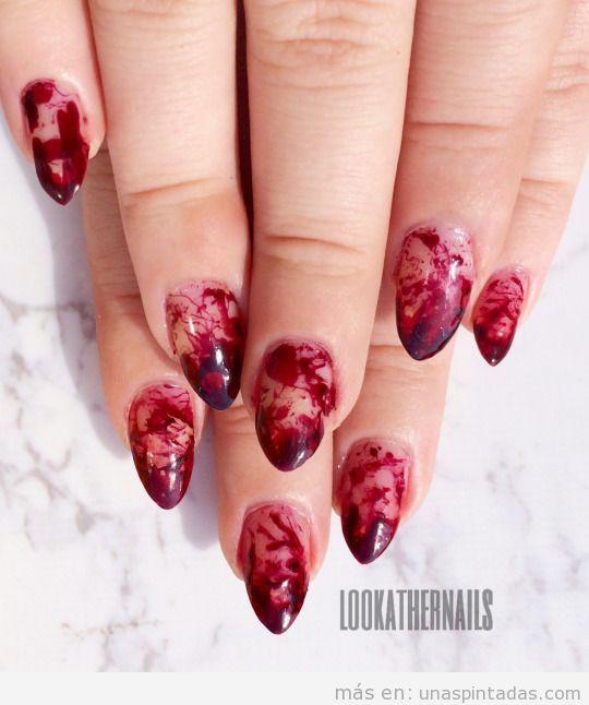 3 imágenes con ideas decoración de uñas Halloween 2015