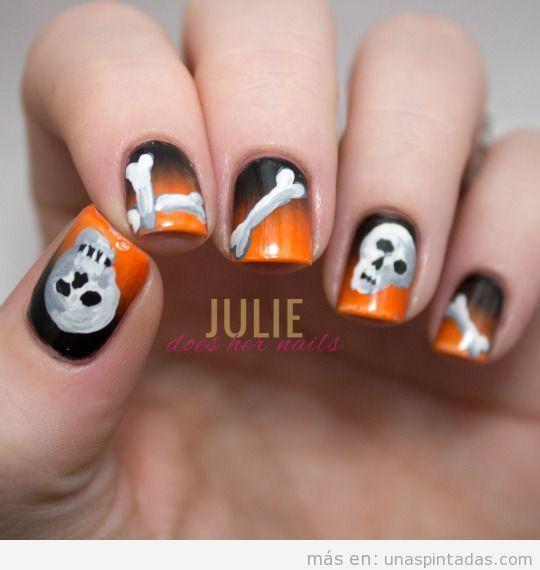 imágenes con ideas uñas pintadas Halloween 2015