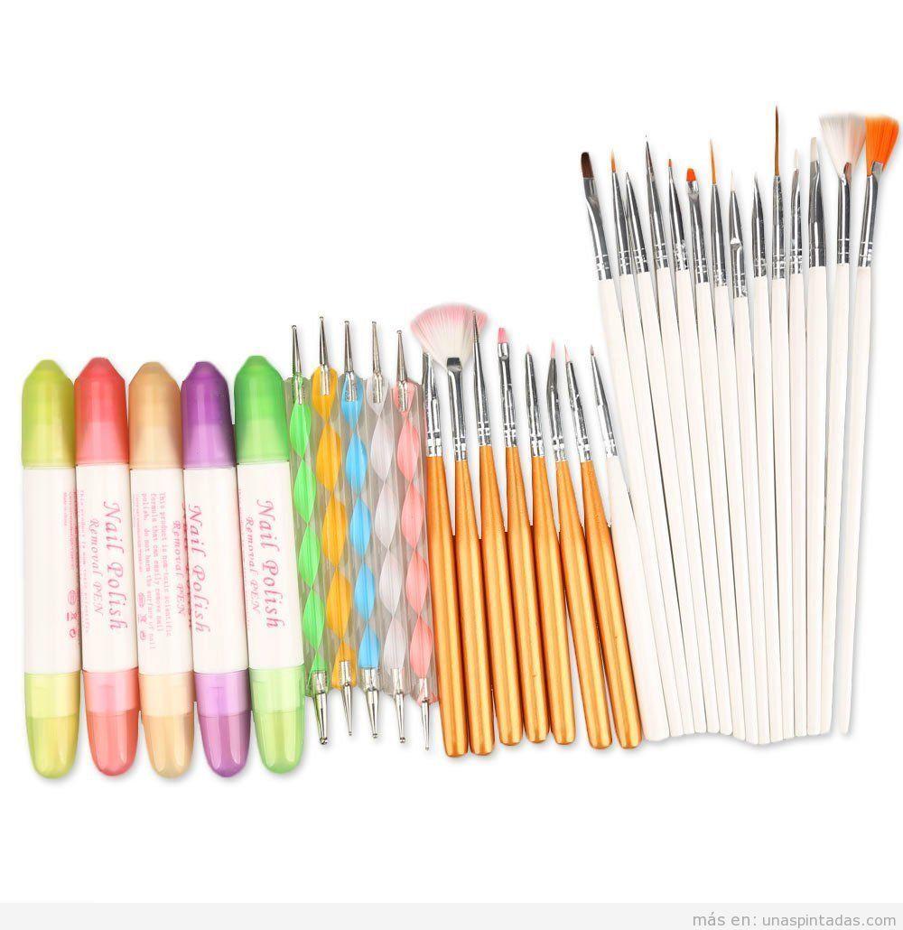 Set herramientas Nail Art barato