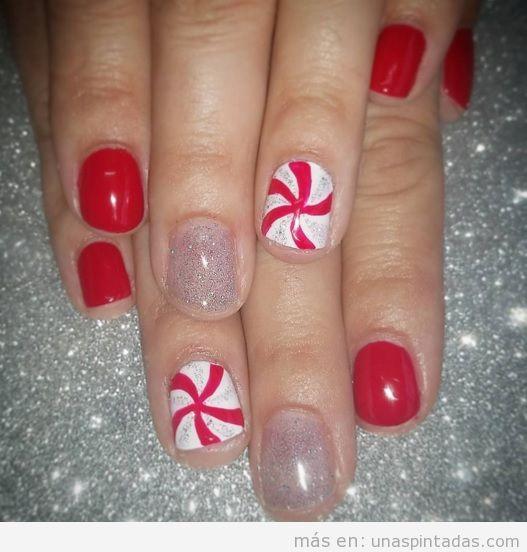 Ideas decoraciones de uñas Navidad 4